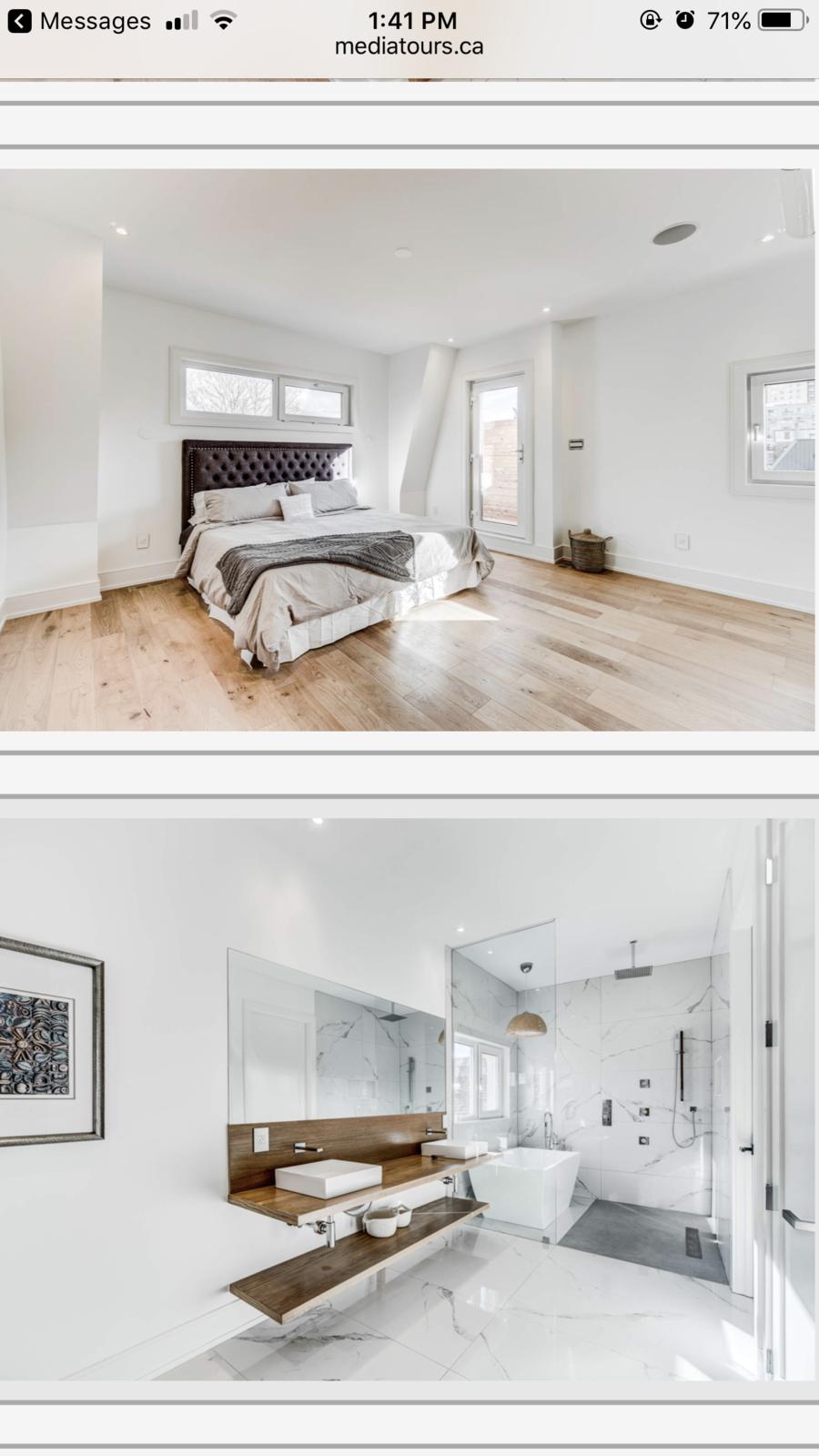 Bedroom After  Queent St W Toronto