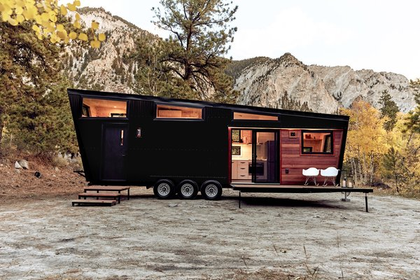 This Adventure-Ready Tiny House Has a Mud Room and a Fold-Down Deck