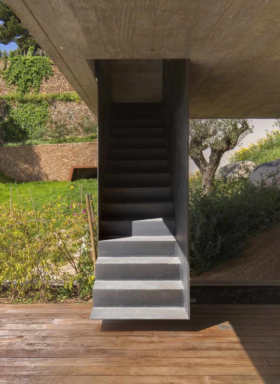 Outdoor, Wood, Side Yard, Large, Grass, Landscape, Metal, and Concrete  Outdoor Side Yard Concrete Wood Photos from Villa Boscana