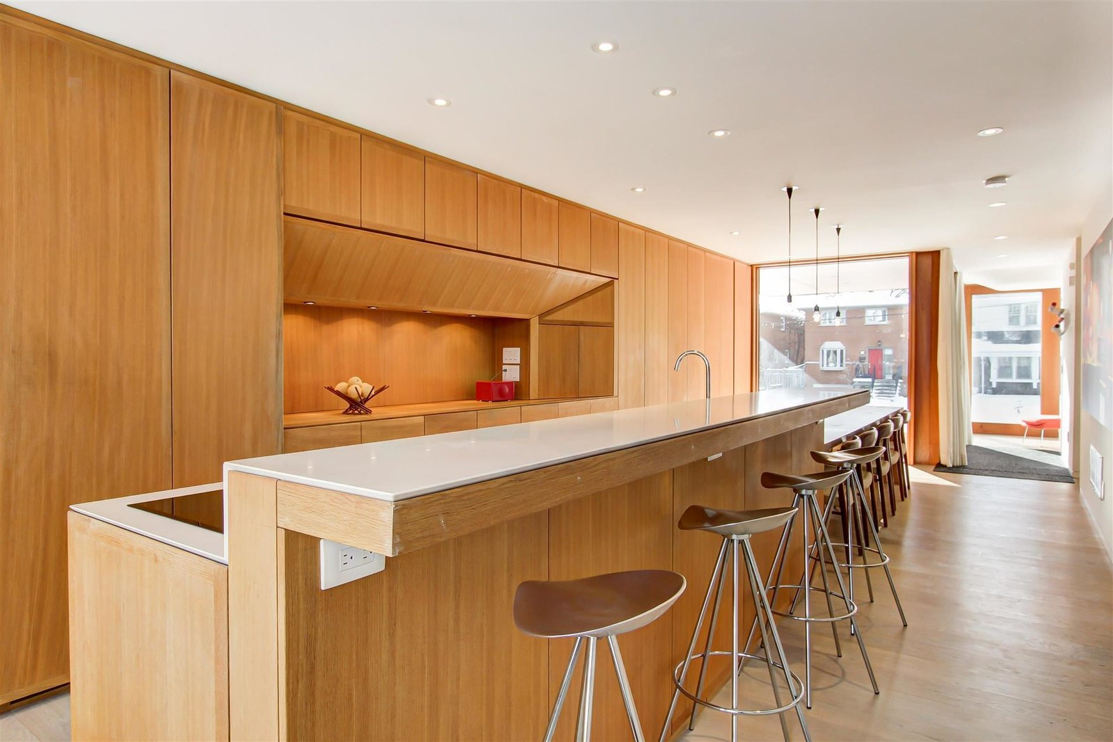 Kitchen, Wood Cabinet, and Wood Counter  The Blantyre House