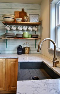 Custom, Maine-made slate sink