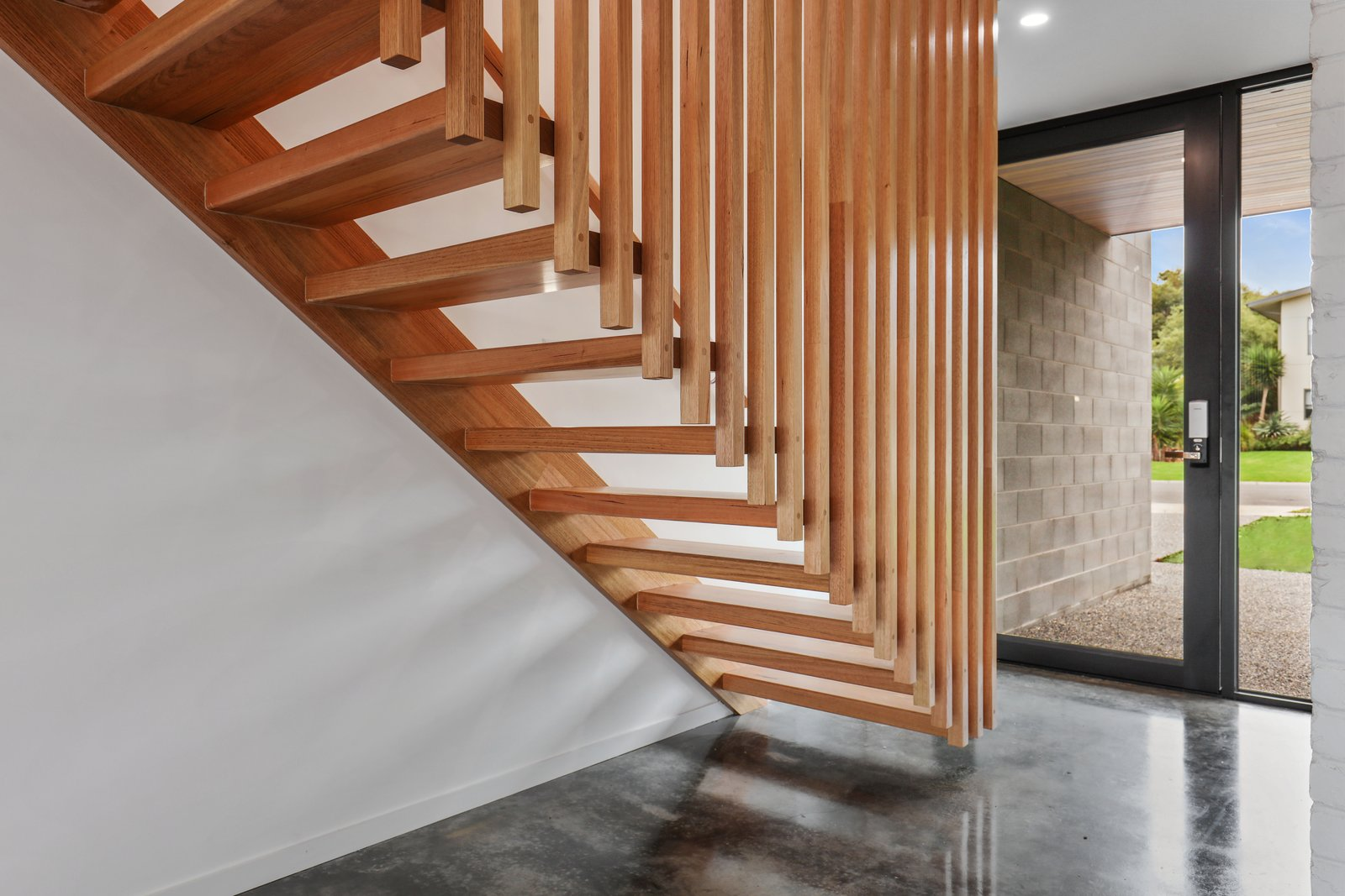 Staircase, Wood Tread, and Wood Railing  Tamara Crecsent by Inverloch 3996