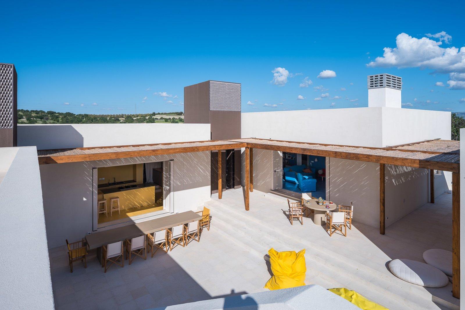 Outdoor, Large Patio, Porch, Deck, Stone Patio, Porch, Deck, and Front Yard  Cozzo Coniglio