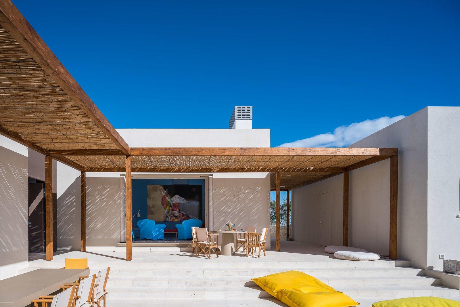Outdoor, Front Yard, Stone Patio, Porch, Deck, and Large Patio, Porch, Deck  Cozzo Coniglio