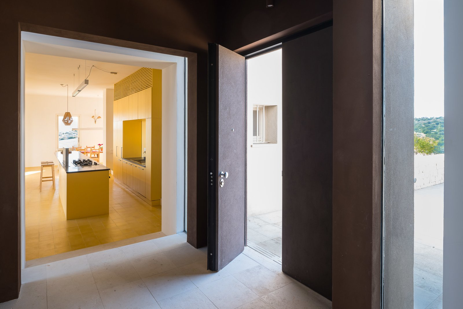 Hallway and Limestone Floor  Cozzo Coniglio
