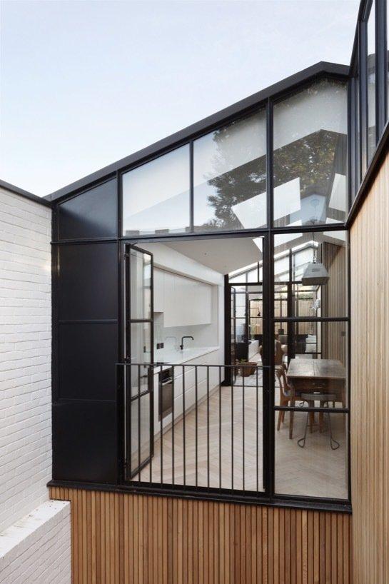 Doors, Metal, Exterior, and Swing Door Type  Best Photos from The Courtyard House