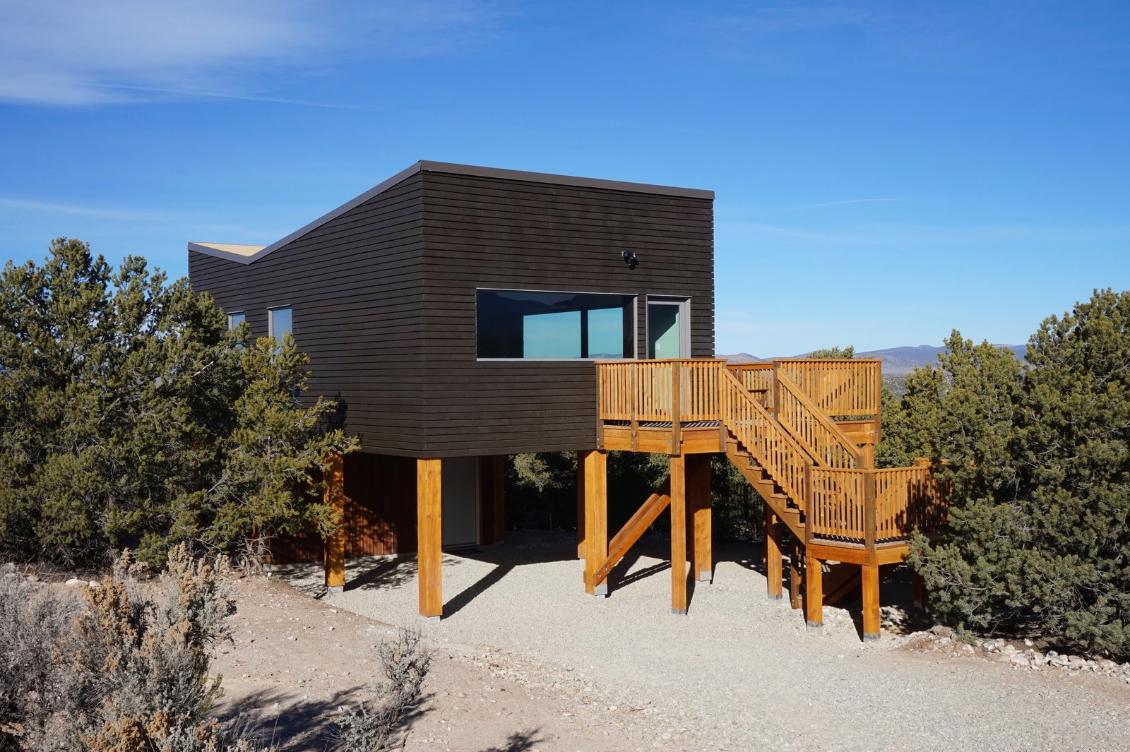 Exterior, Green Roof Material, Apartment Building Type, Butterfly RoofLine, and Wood Siding Material  SkyNest by Joaquin Karcher
