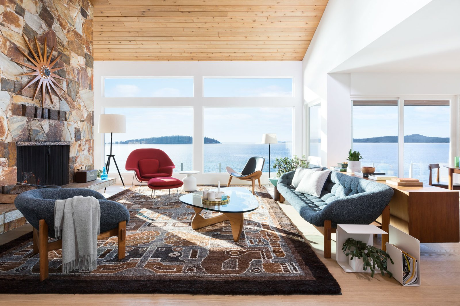 Living Room  Halfmoon Bay House by Falken Reynolds Interiors