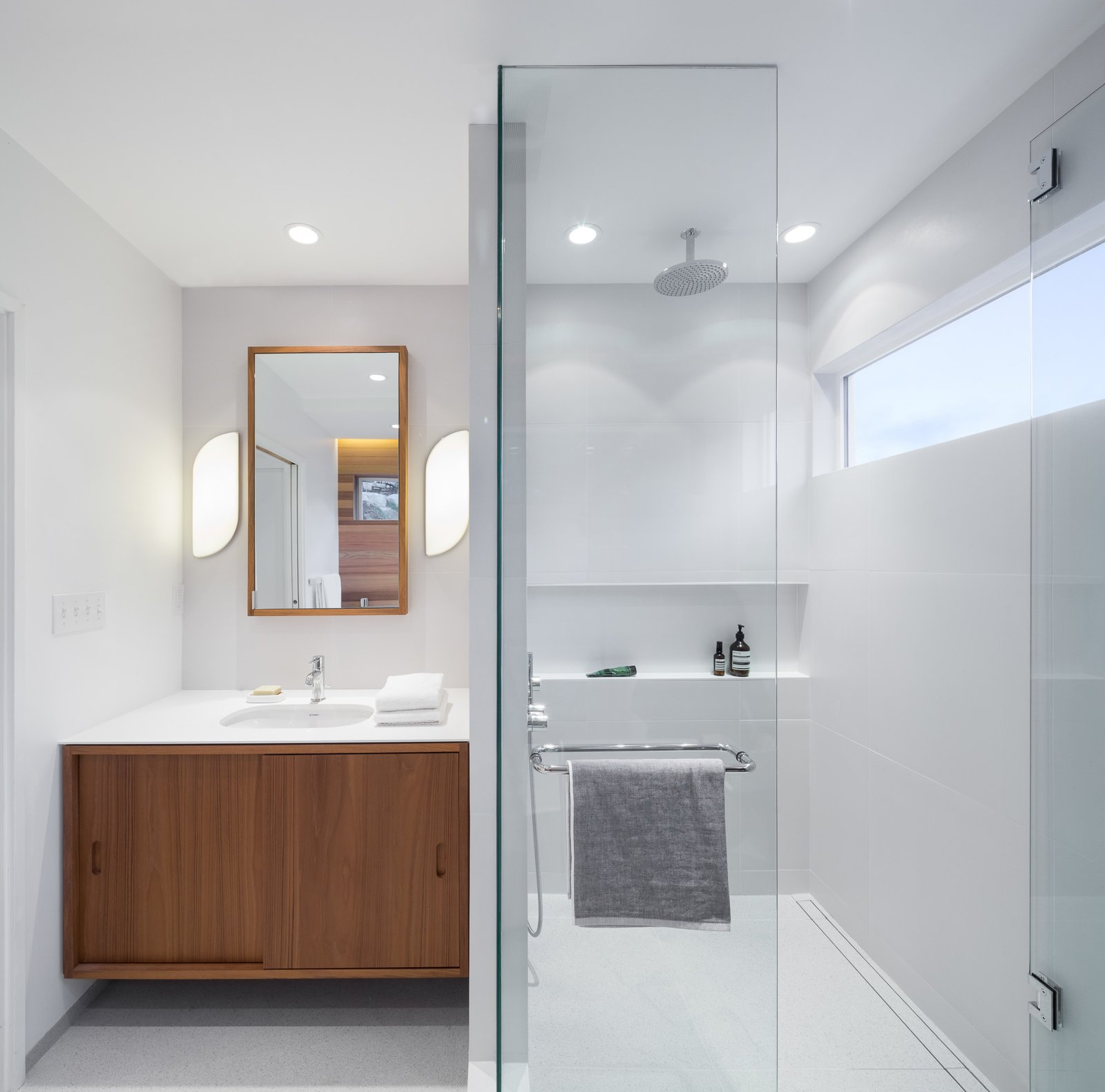 Bath Room  Halfmoon Bay House by Falken Reynolds Interiors