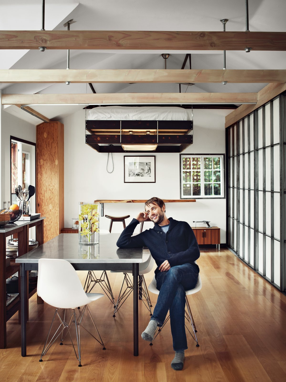 Photo 1 of 1 in Dwell Celebrity Home Tours:  Step Inside the Tiny Home of  Mad Men's Vincent Kartheiser