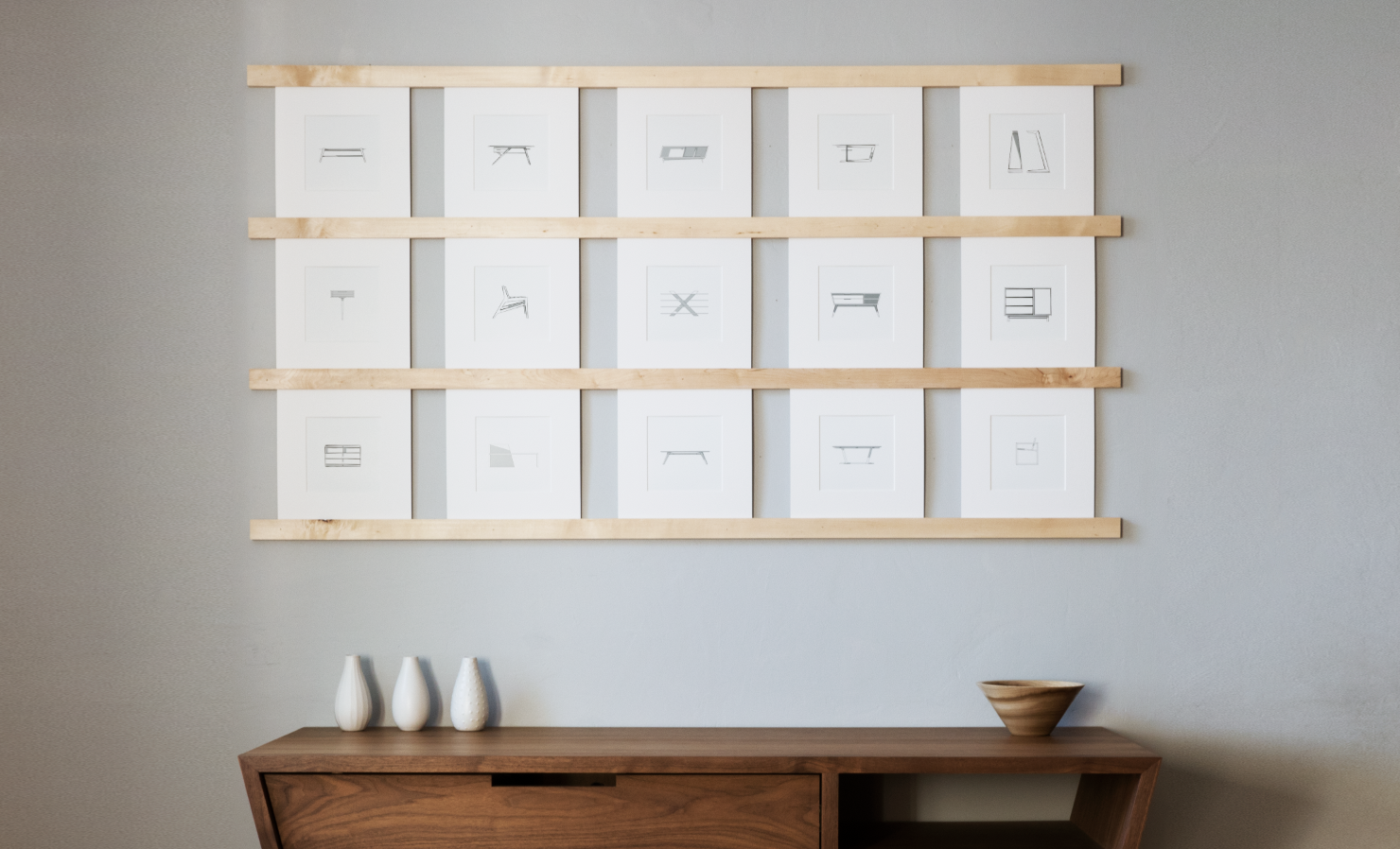 Photo 1 of 1 in DIY Picture Wall | A Dwell Made Project