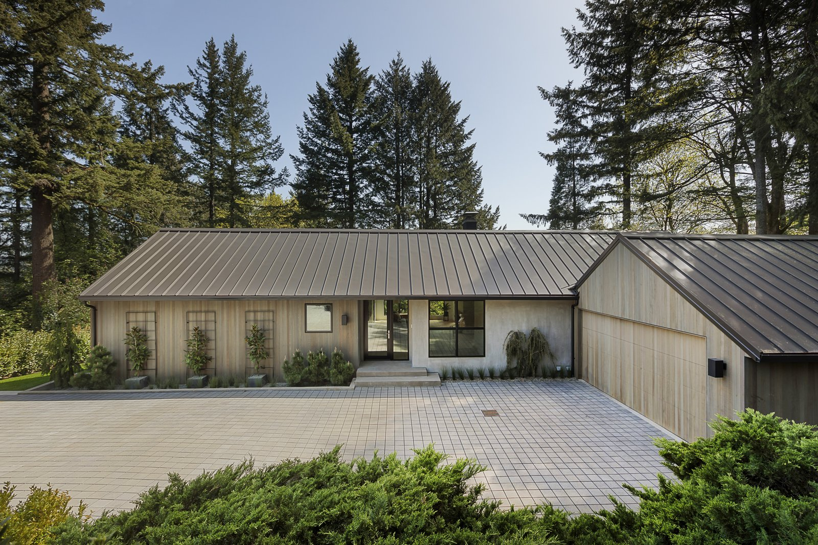 Exterior, Metal Roof Material, House Building Type, Concrete Siding Material, and Wood Siding Material  Burton House