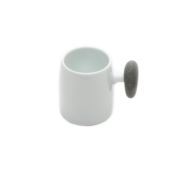 Hakusan Porcelain -  Stone Handle Mug