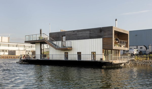 Picture Yourself in This Modern Danish Houseboat Asking $923K