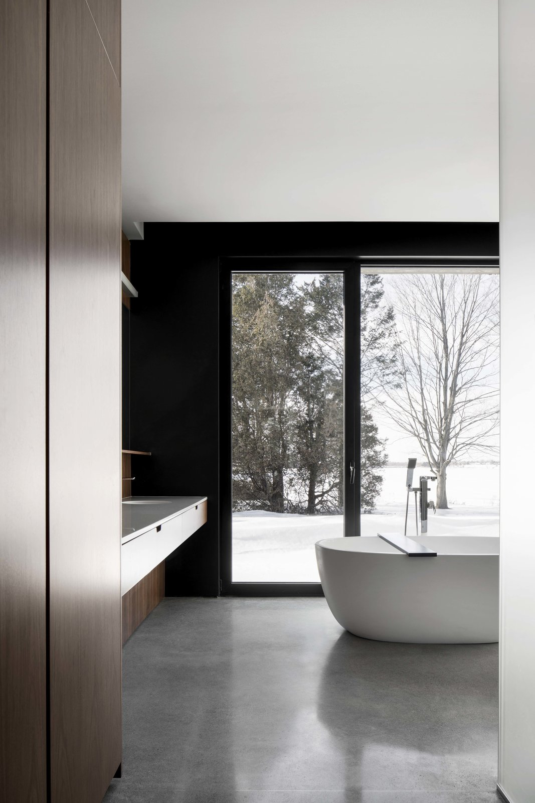 Bath Room, Freestanding Tub, Concrete Floor, and Undermount Sink  Best Photos from True North