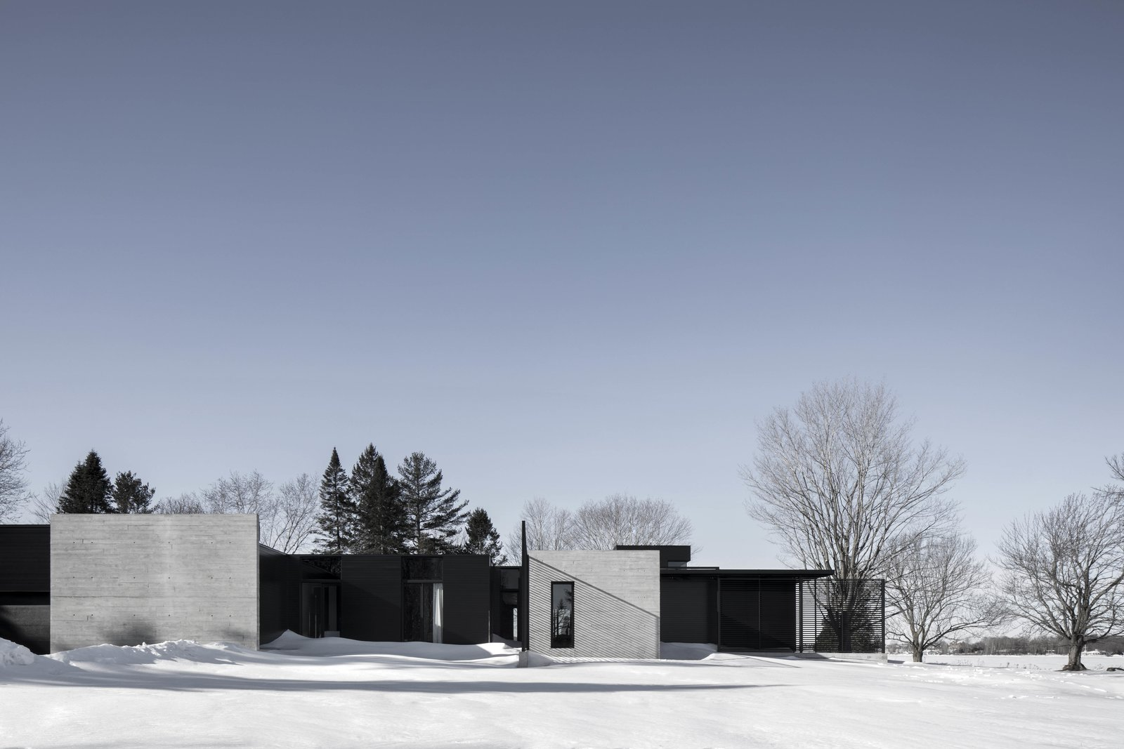 Outdoor and Trees  True North by Alain Carle Architecte