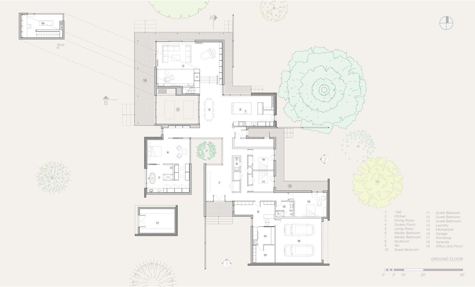 Plan  True North by Alain Carle Architecte