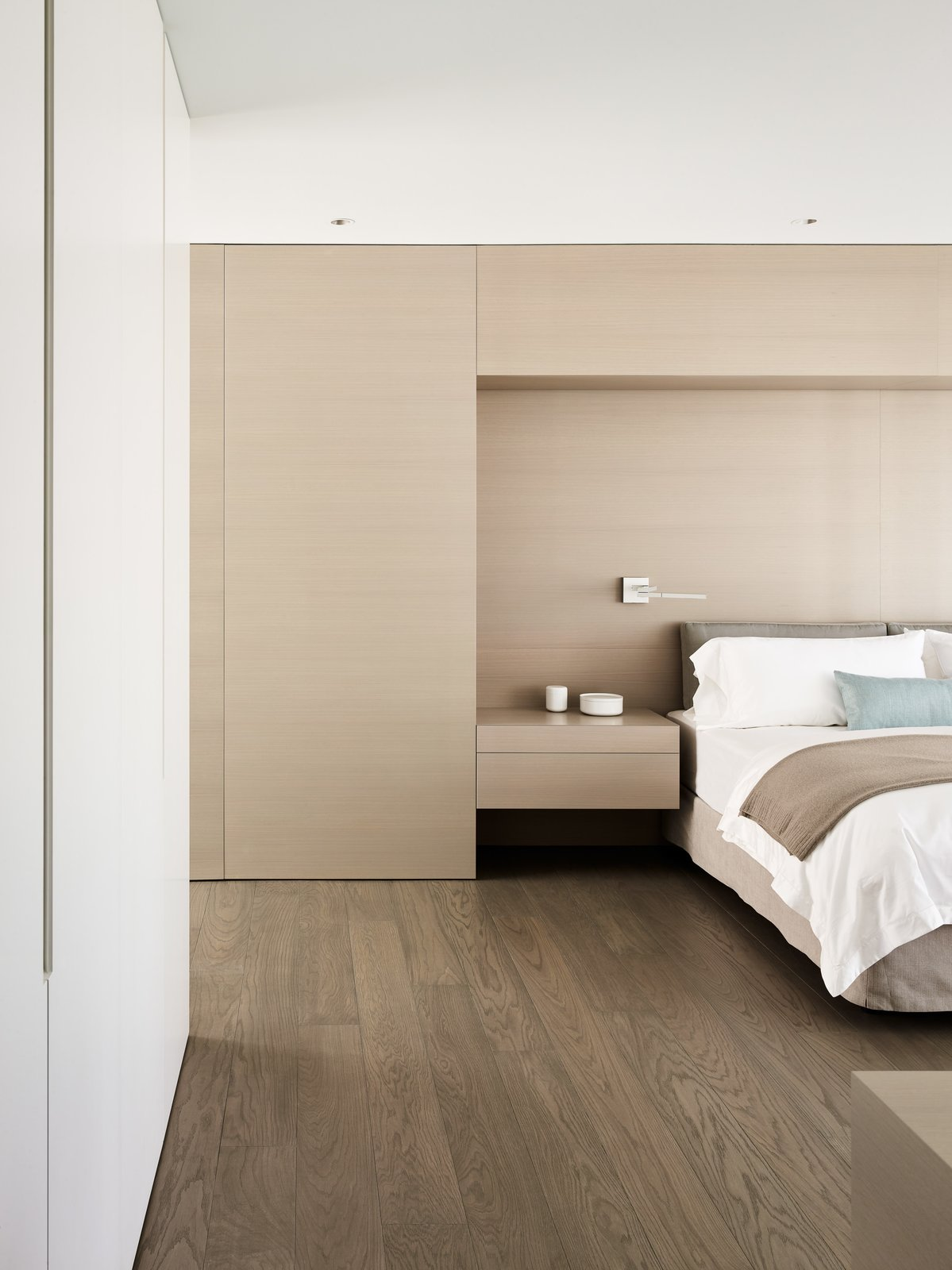 Bedroom, Bed, Night Stands, and Medium Hardwood Floor  Photos from Private Residence 4