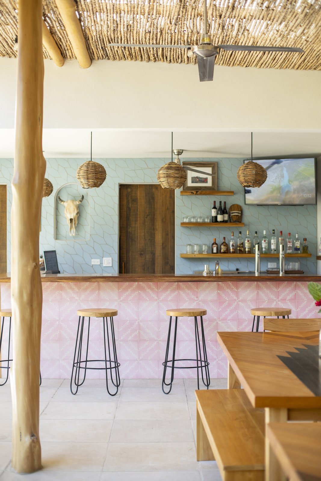 Dining Room and Accent Lighting Bar  Nomadic Nosara