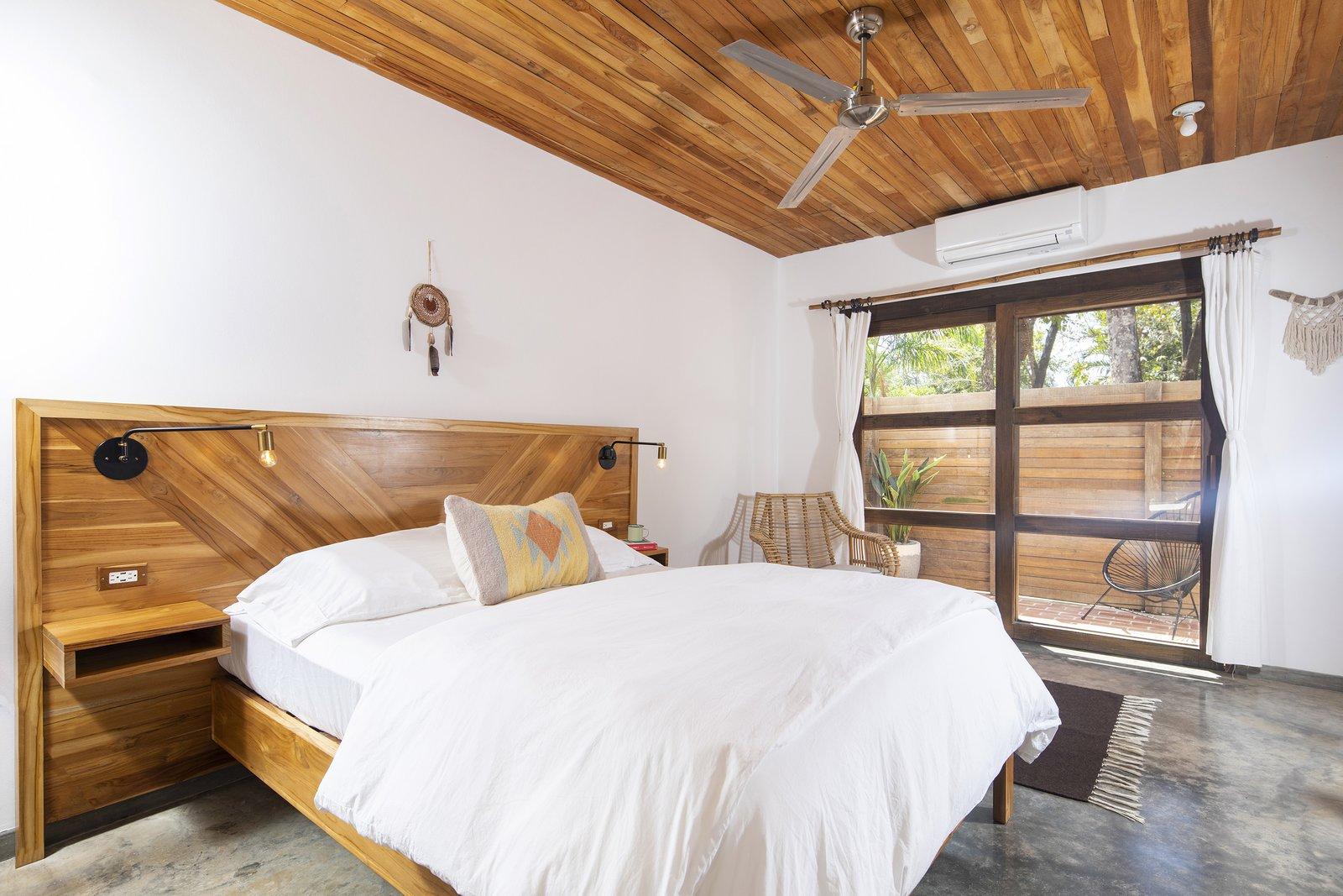 Bedroom, Bed, Concrete Floor, and Recessed Lighting Room  Nomadic Nosara