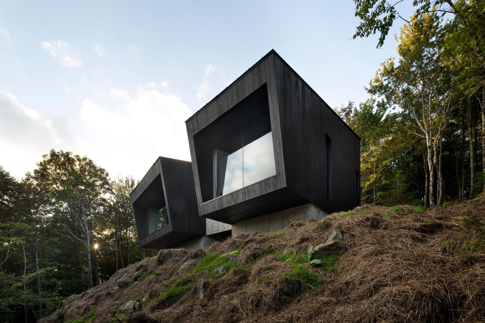 This Modern Cabin in Canada Looks Like a Gigantic Pair of Binoculars
