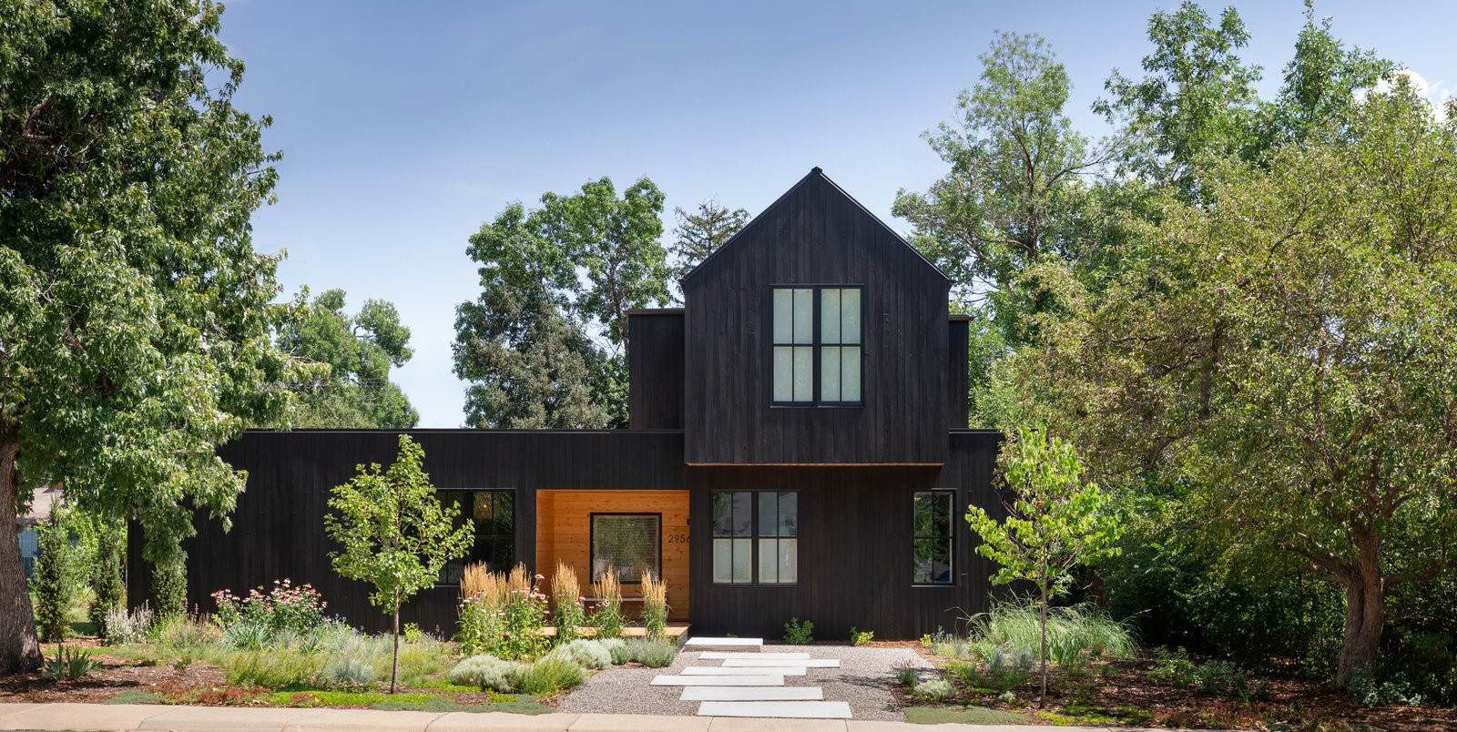 Exterior, House Building Type, Metal Roof Material, and Wood Siding Material  Best Photos from 11th St Residence