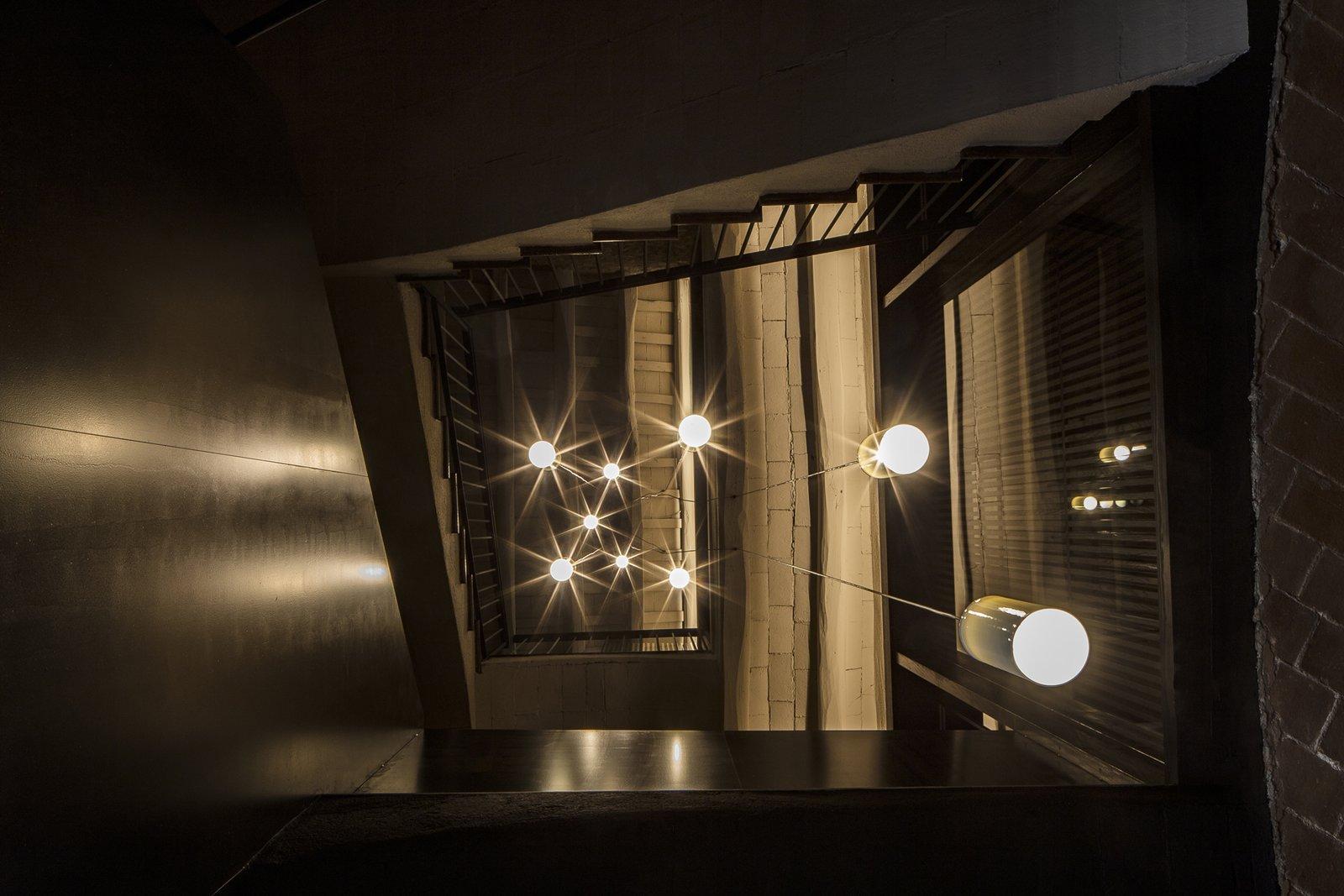 Staircase, Metal Railing, Metal Tread, and Wood Tread  Sant Martí House by Francesc Rifé Studio