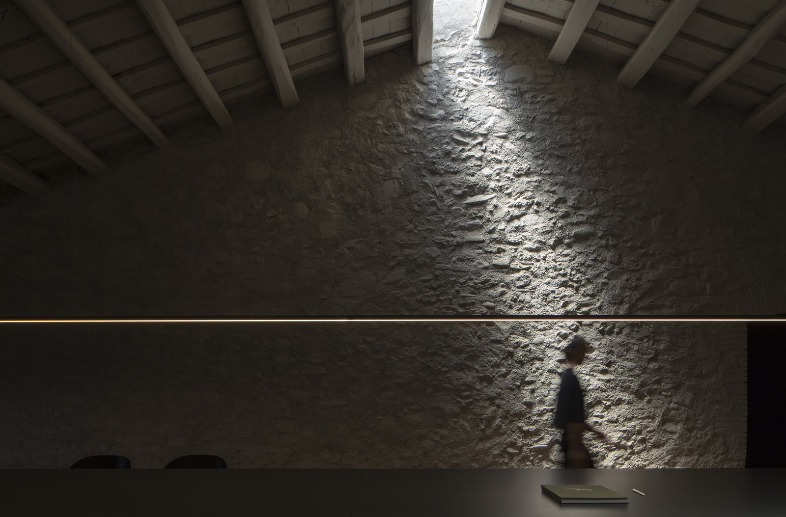 Office, Study Room Type, Desk, and Lamps  Sant Martí House by Francesc Rifé Studio