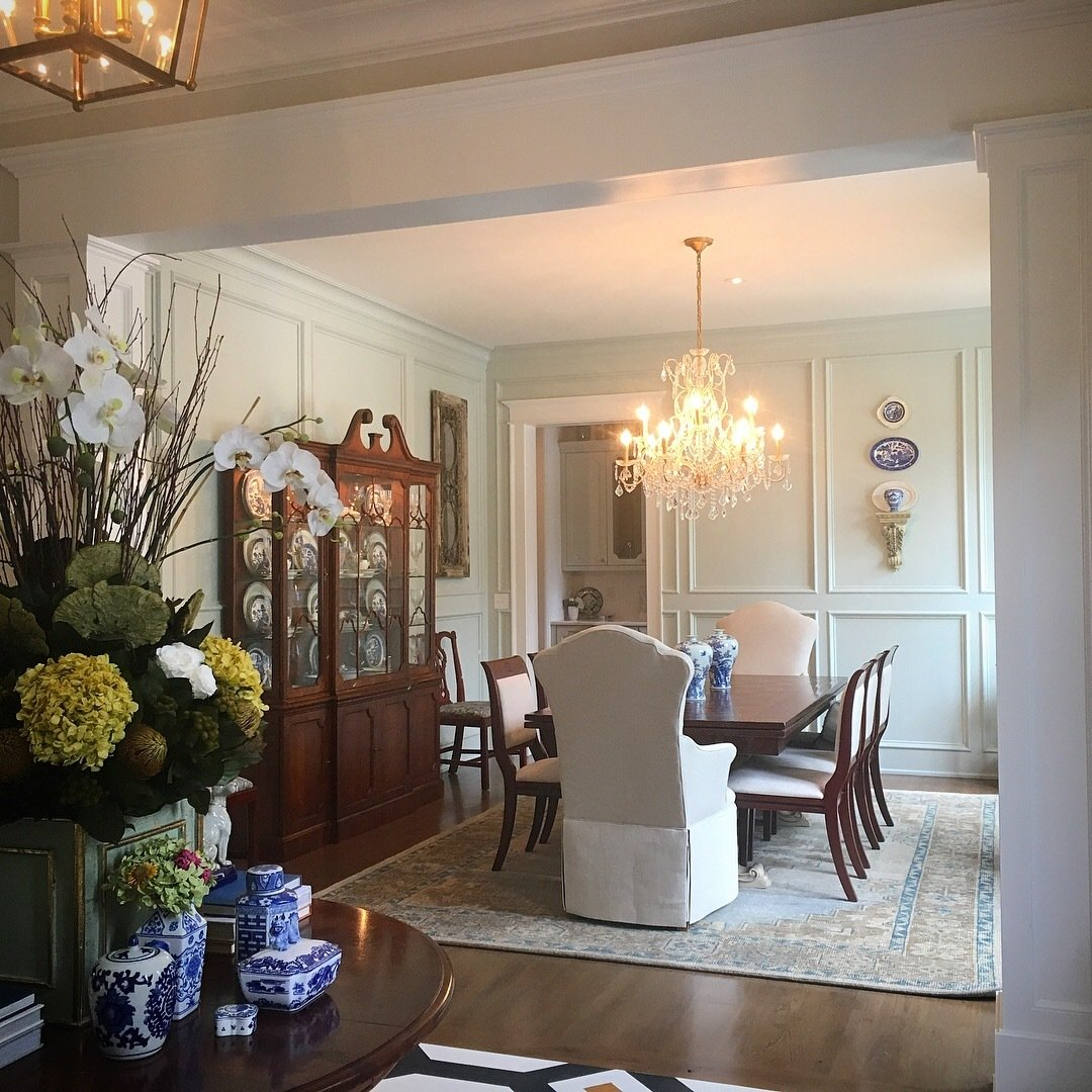 Dining Room, Storage, Ceiling Lighting, Chair, Medium Hardwood Floor, and Table  Detailed by Design