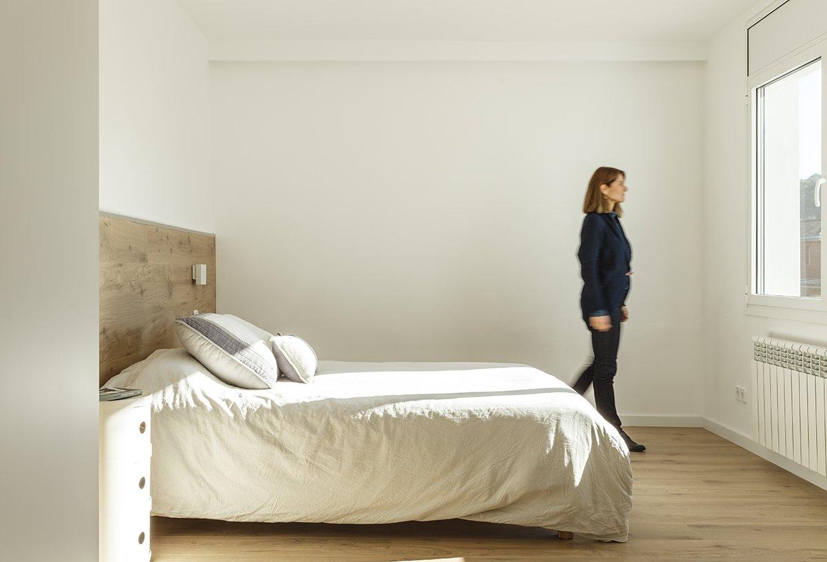 Bedroom, Light Hardwood Floor, Ceiling Lighting, Night Stands, and Bed  Sant Cugat, Catalunya, Spain