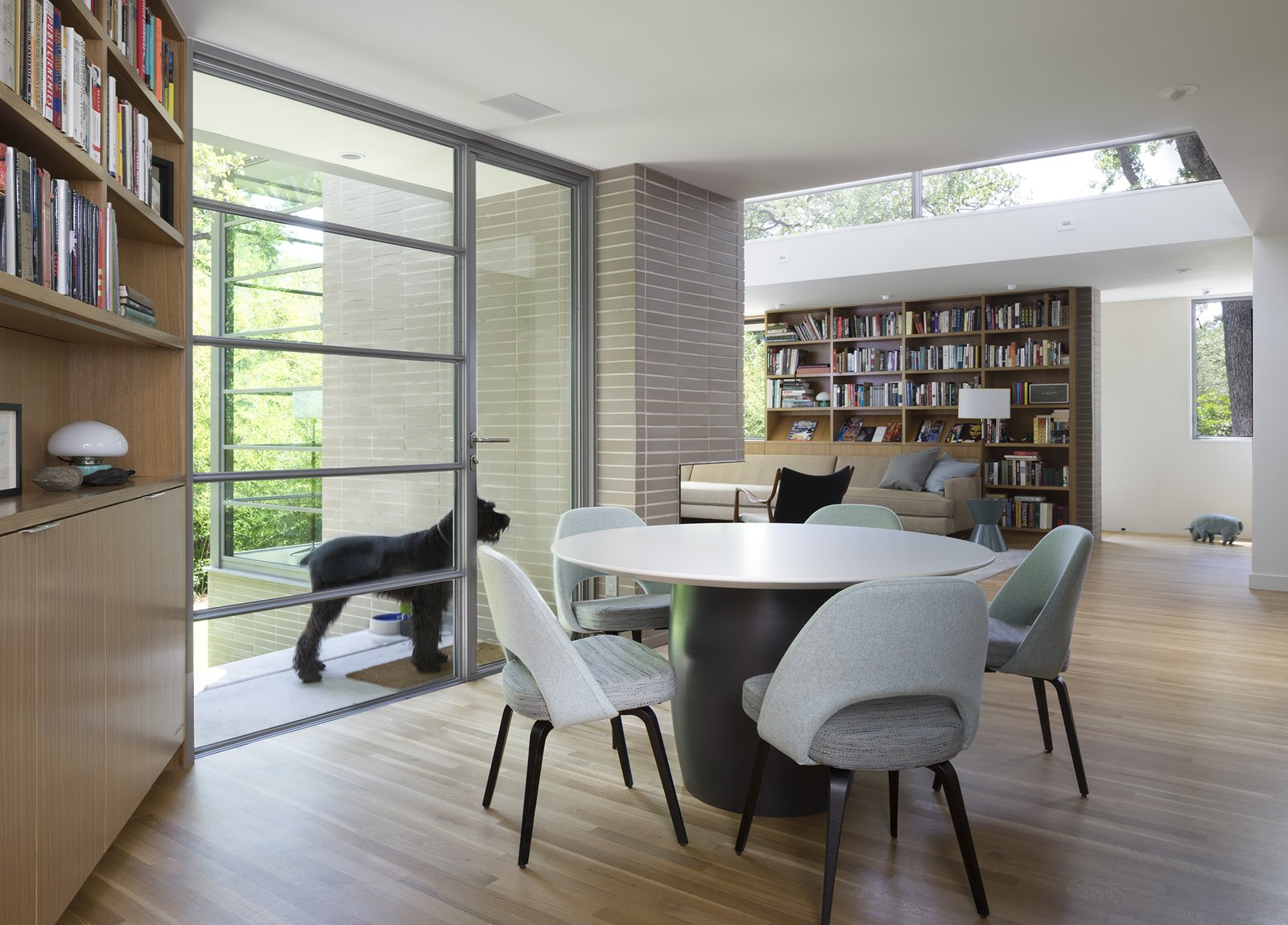 Dining Room, Chair, Table, Recessed Lighting, and Light Hardwood Floor  Inwood Place by Tim Cuppett Architects