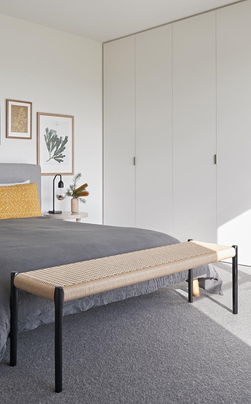 Bedroom, Bed, Carpet Floor, Ceiling Lighting, and Table Lighting  The Balnarring Beach House