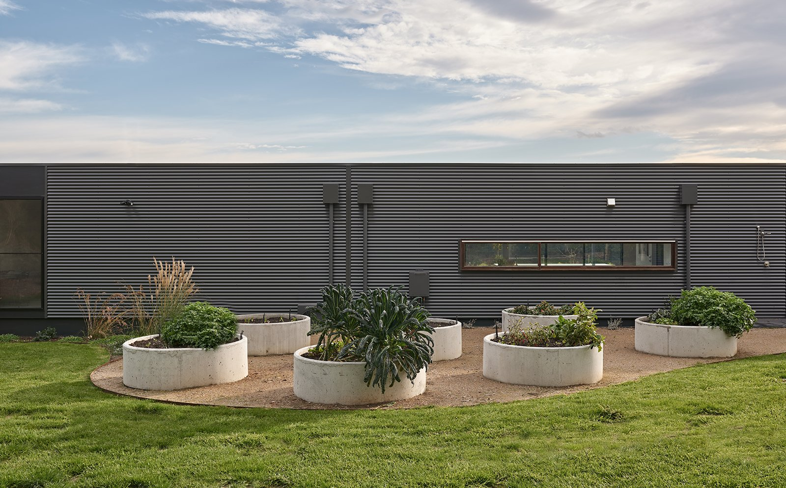 Exterior, Prefab Building Type, Flat RoofLine, Metal Siding Material, and Metal Roof Material  The Balnarring Beach House