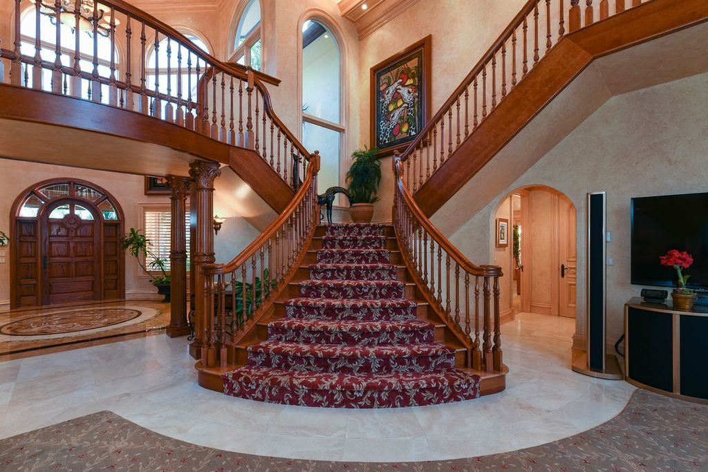 Staircase, Wood Railing, and Wood Tread  Welcome to Fisherman's Cove!