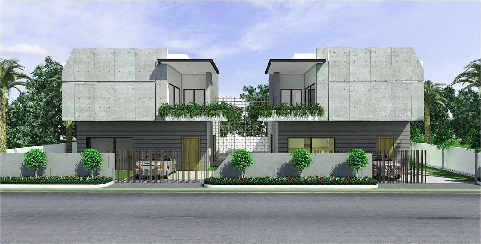 Exterior and House Building Type  Twin Residences by Urban Zen