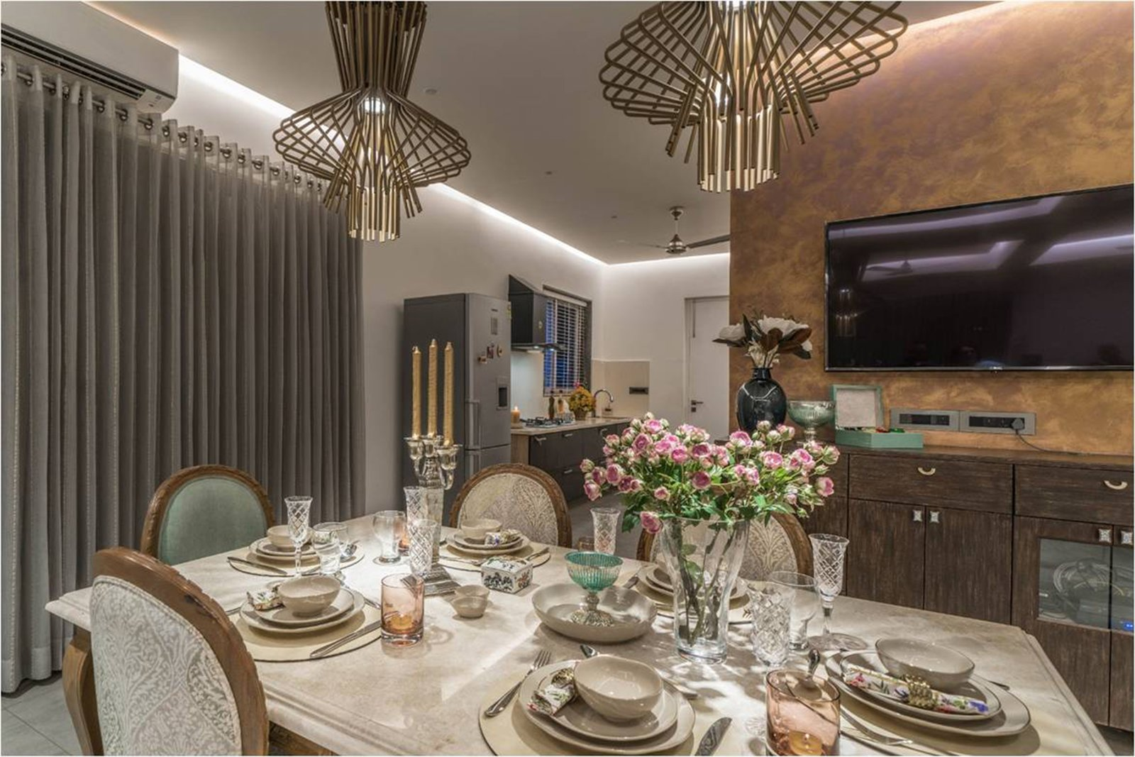 Dining Room  Twin Residences by Urban Zen