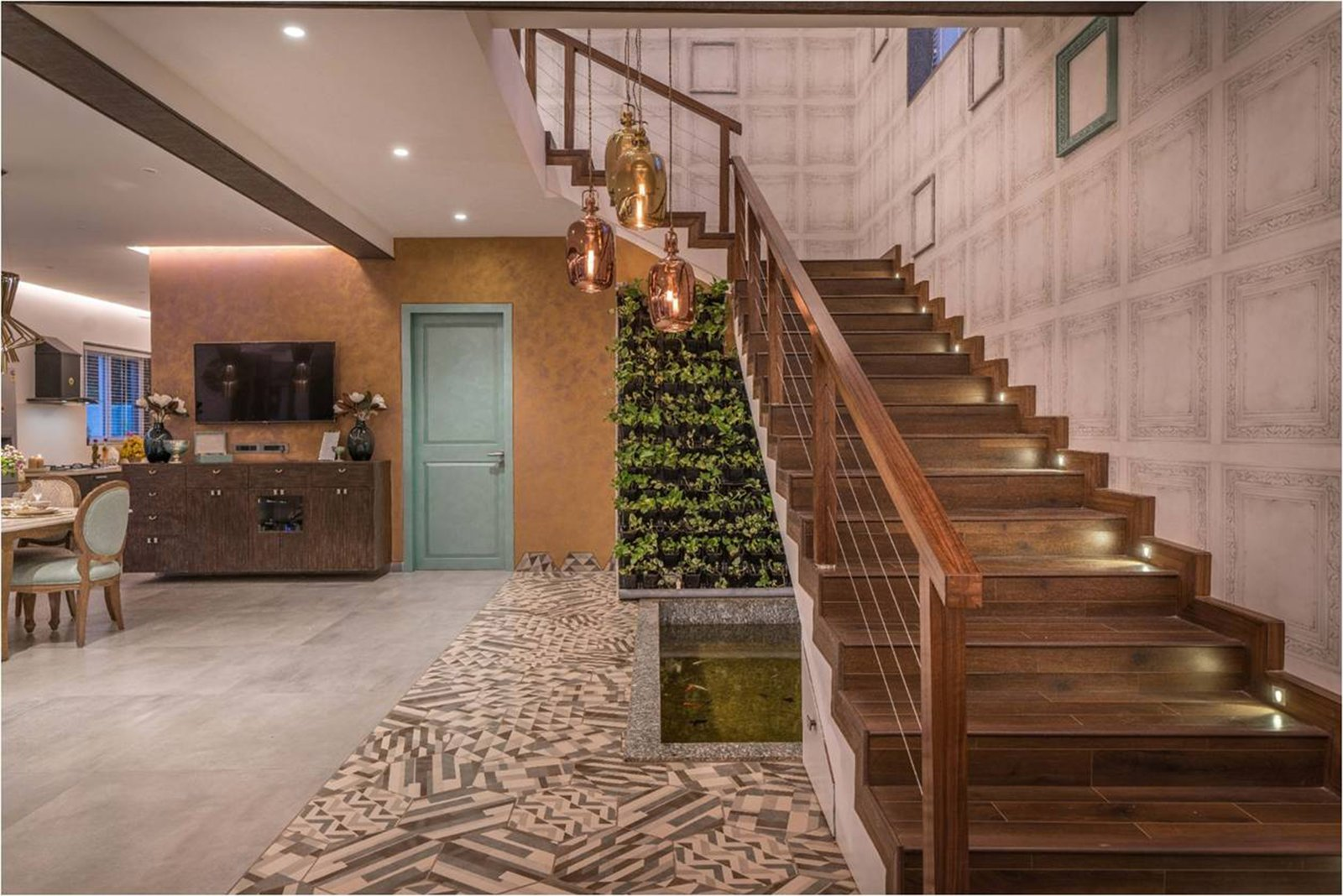 Staircase, Wood Tread, and Wood Railing  Twin Residences by Urban Zen