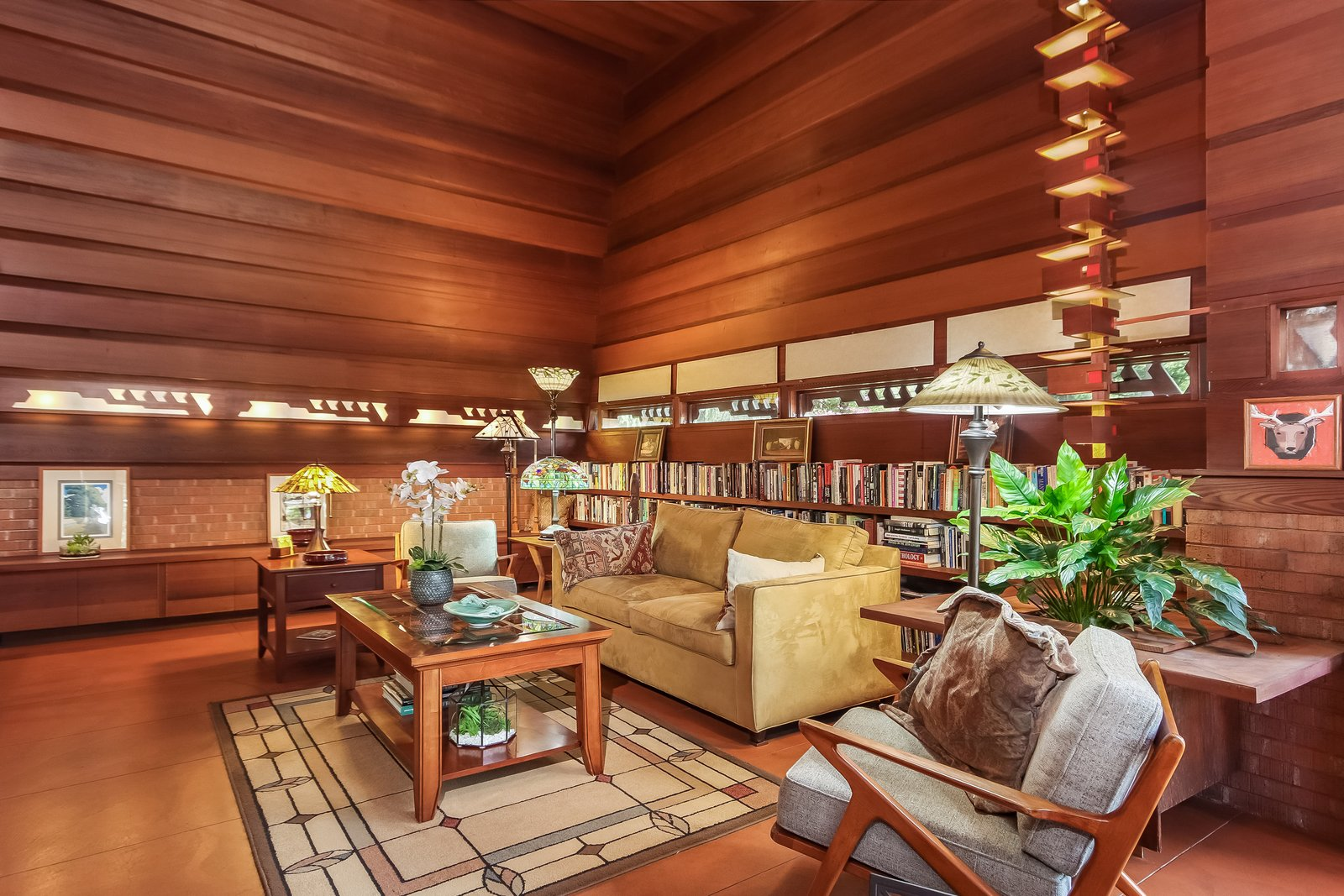 Living Room  Frank Lloyd Wright's Small Masterpiece: The Haddock House