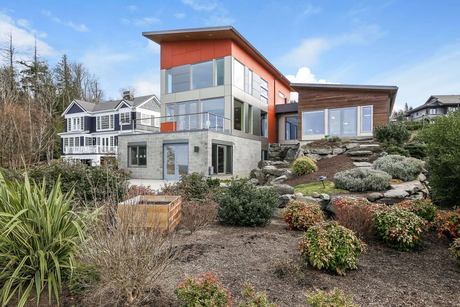 Outdoor, Shrubs, Walkways, Boulders, Back Yard, and Gardens  Japanese Builder Ichijo Creates Net-Zero Energy Home by PlanOmatic