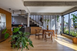 A Mexico City Apartment Building Offers Lush Terraces Clad in Concrete and Steel