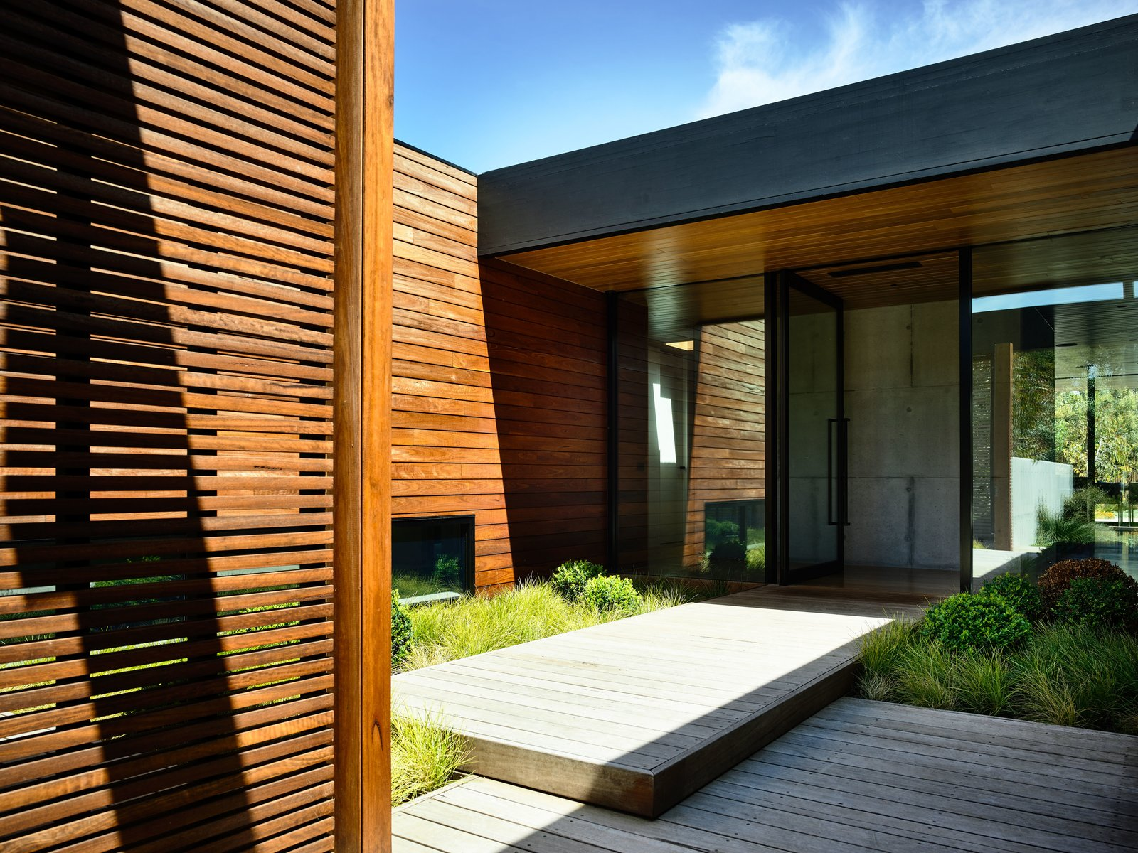 Concrete Siding Material, Flat RoofLine, House Building Type, Beach House Building Type, and Wood Siding Material  DS House, Blairgowrie