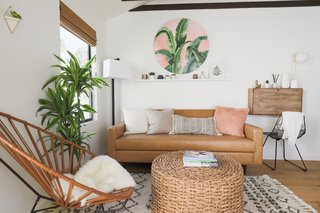 Cozy textures like rattan and fur give each apartment complex a homely feel.