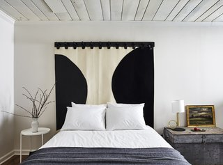 All the beds have custom felt and leather headboards and Brooklinen sheets.