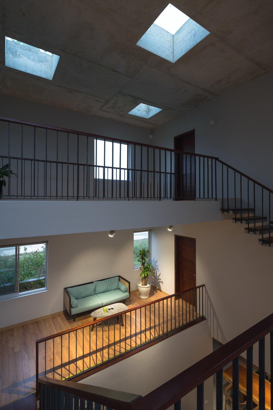 Hallway and Medium Hardwood Floor  Ninh Binh House