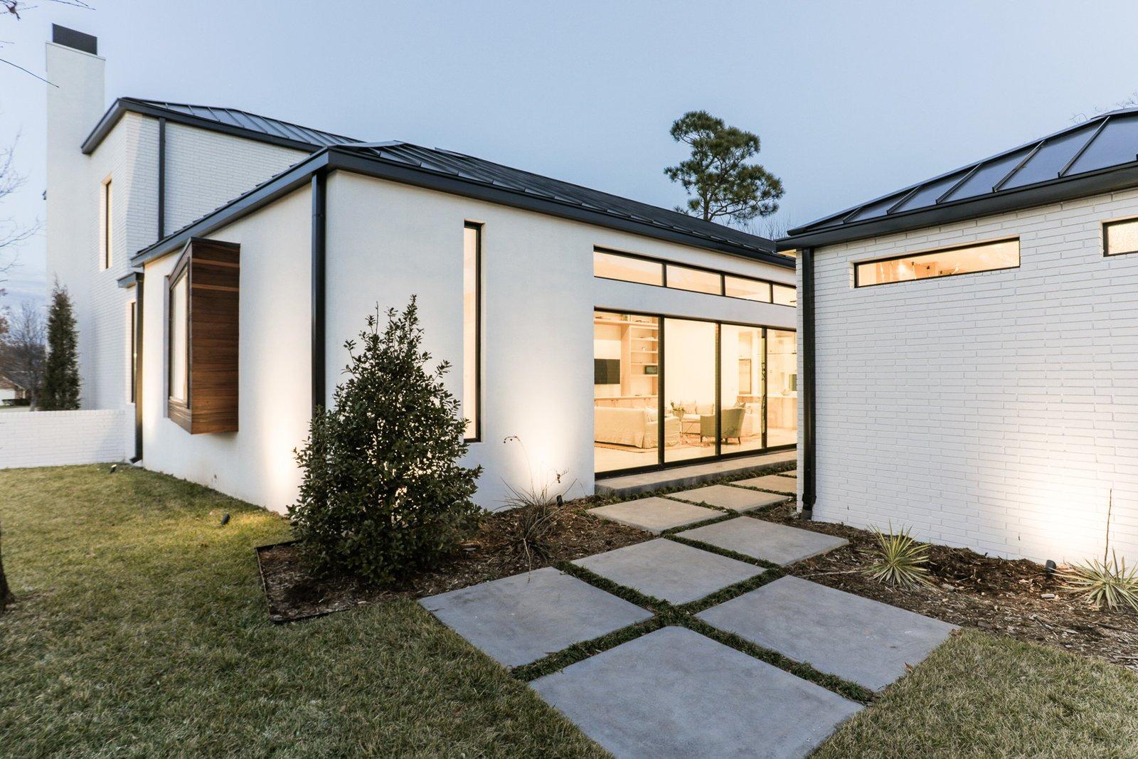 Exterior, House, Stucco, Brick, and Metal  Exterior Stucco Brick Photos from OKC Modern