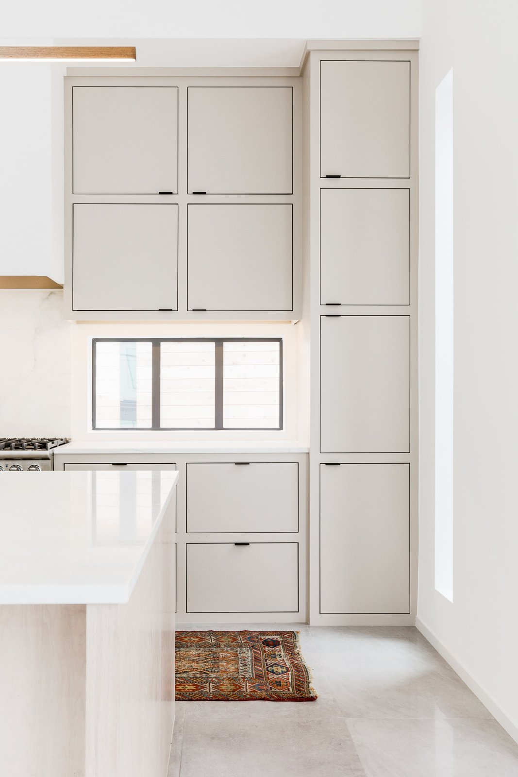 Kitchen, Wood Cabinet, Marble Backsplashe, and Marble Counter  OKC Modern by Emily  Hart