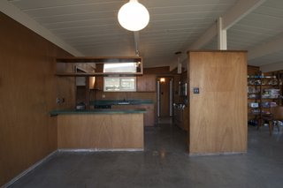 Previously, the kitchen was shrouded in wood.