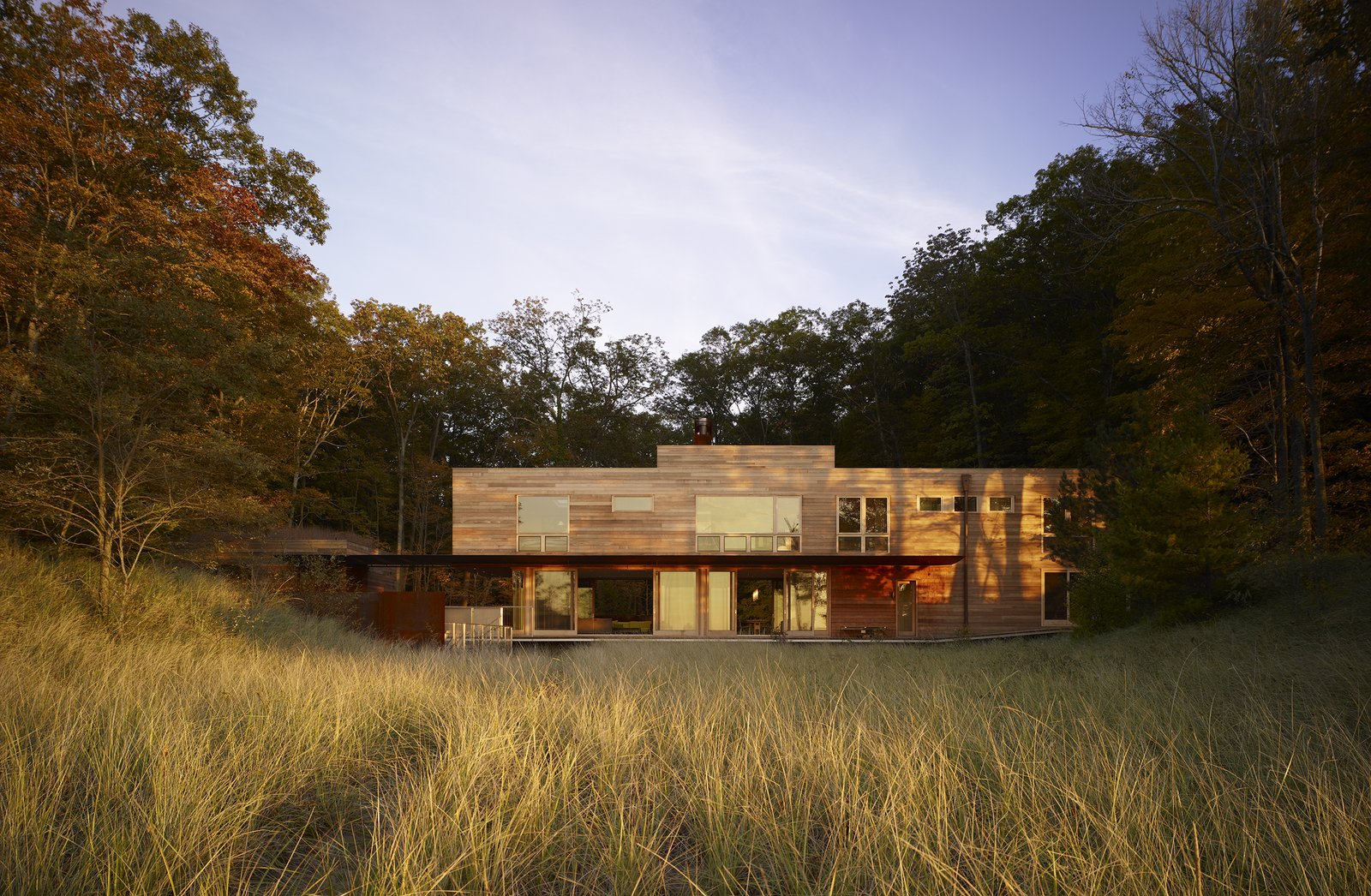 Exterior, Wood Siding Material, Beach House Building Type, House Building Type, and Flat RoofLine  Photos from Fire Lane