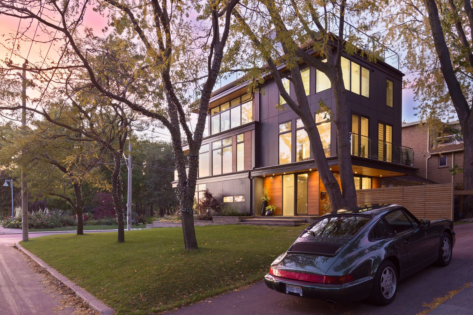 Exterior, Wood Siding Material, Flat RoofLine, House Building Type, Metal Siding Material, and Metal Roof Material  Photos from Lakeview in the Beaches