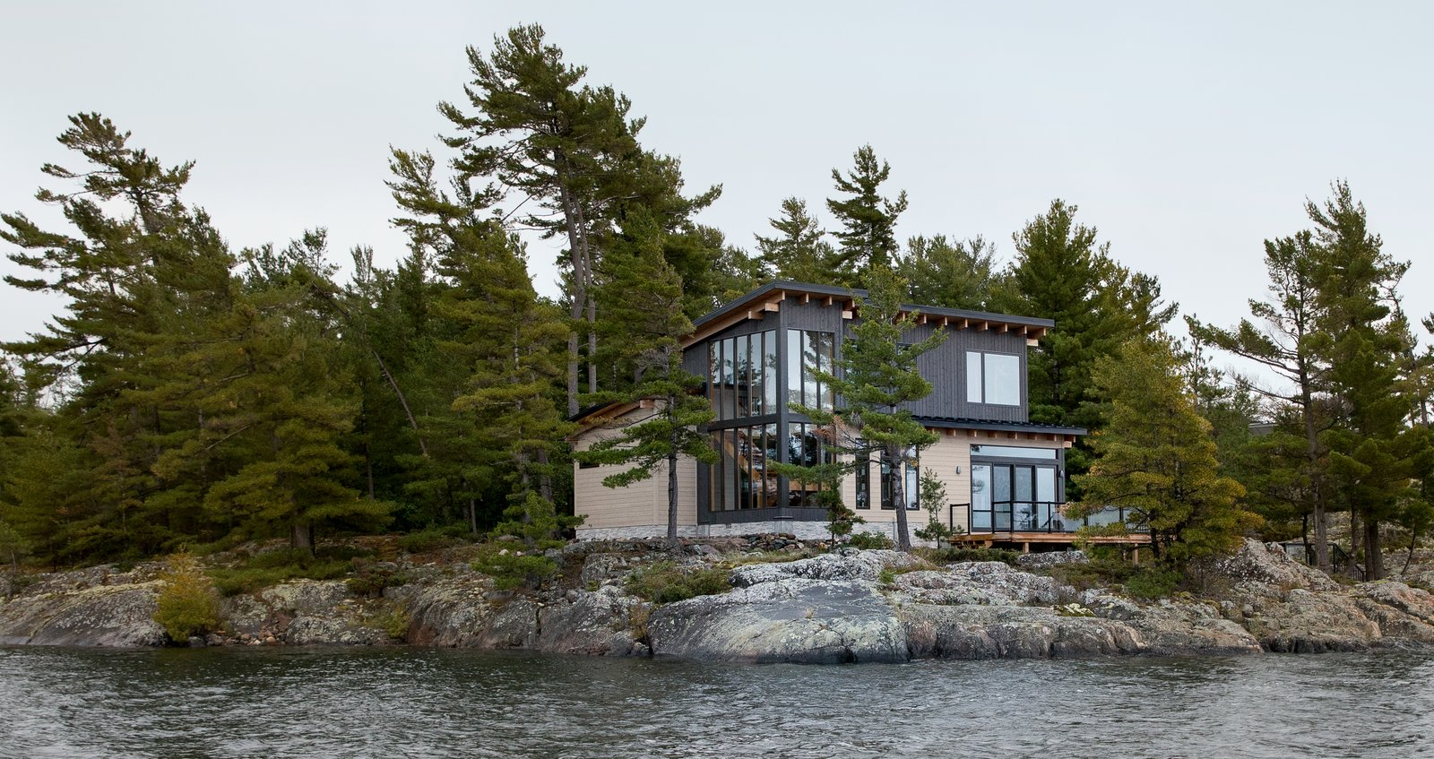 Exterior, Cabin Building Type, Wood Siding Material, and Shed RoofLine  Photos from Iroquois Bay